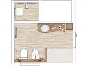 LH19 -  Bad mit Dusche,WC, Bidet und Wellness, Stil Landhaus,  Highend-Fotorealistik