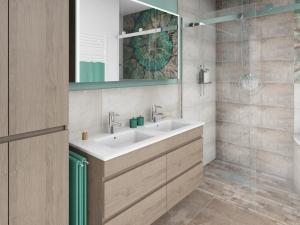 LH28 Doppelwaschtisch und Dusche barrierefrei
