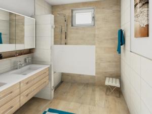 LH64 Bad mit Walk In Dusche