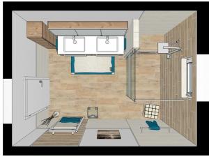 LH67 3D-Grundriss Bad mit Walk In Dusche