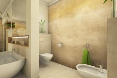 M46 Perspektive Bidet und WC, Bad klassisch, 3D-Highend Fotorealistik