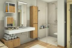M54 Perspektive Waschtisch und Dusche, 3D Highend-Fotorealistik