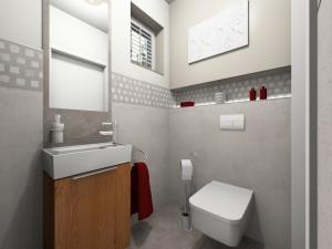 LH13 - WC, Stil Landhaus,  Highend-Fotorealistik