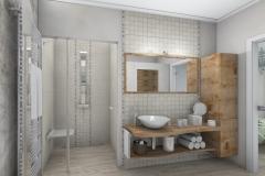 LH16 -  Bad mit Dusche,WC, Bidet und Wellness, Stil Landhaus,  Highend-Fotorealistik