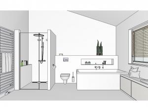 Badewanne-Dusche - Badplanung Basispaket