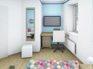 5 Mädchenzimmer mit angrenzendem Schrankraum