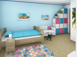 6 Mädchenzimmer mit angrenzendem Schrankraum