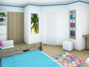 7 Mädchenzimmer mit angrenzendem Schrankraum